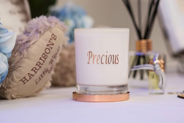 Precious Soy Candle from Harrisons Little Wings. Enjoy a sweet floral scent that will fill your home with the sweet scent of precious. Burn time 48 hours