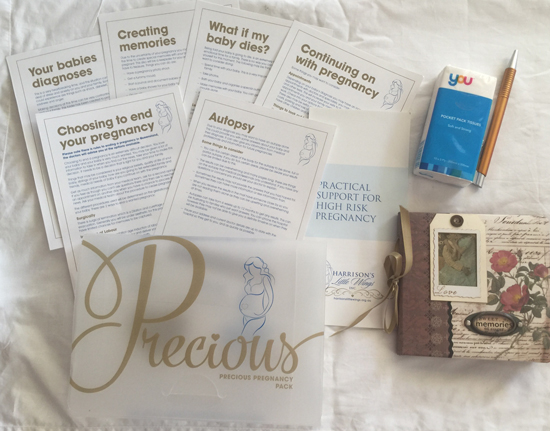 Precious Pregnancy Packs by Harrisons LIttle Wings, a high risk pregnancy support service
