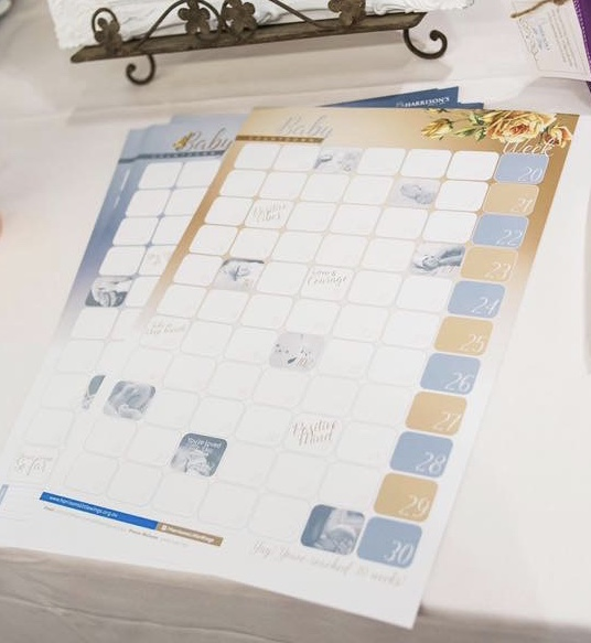 Calendar by Harrisons Little Wings supporter of women experiencing high risk pregnancies.