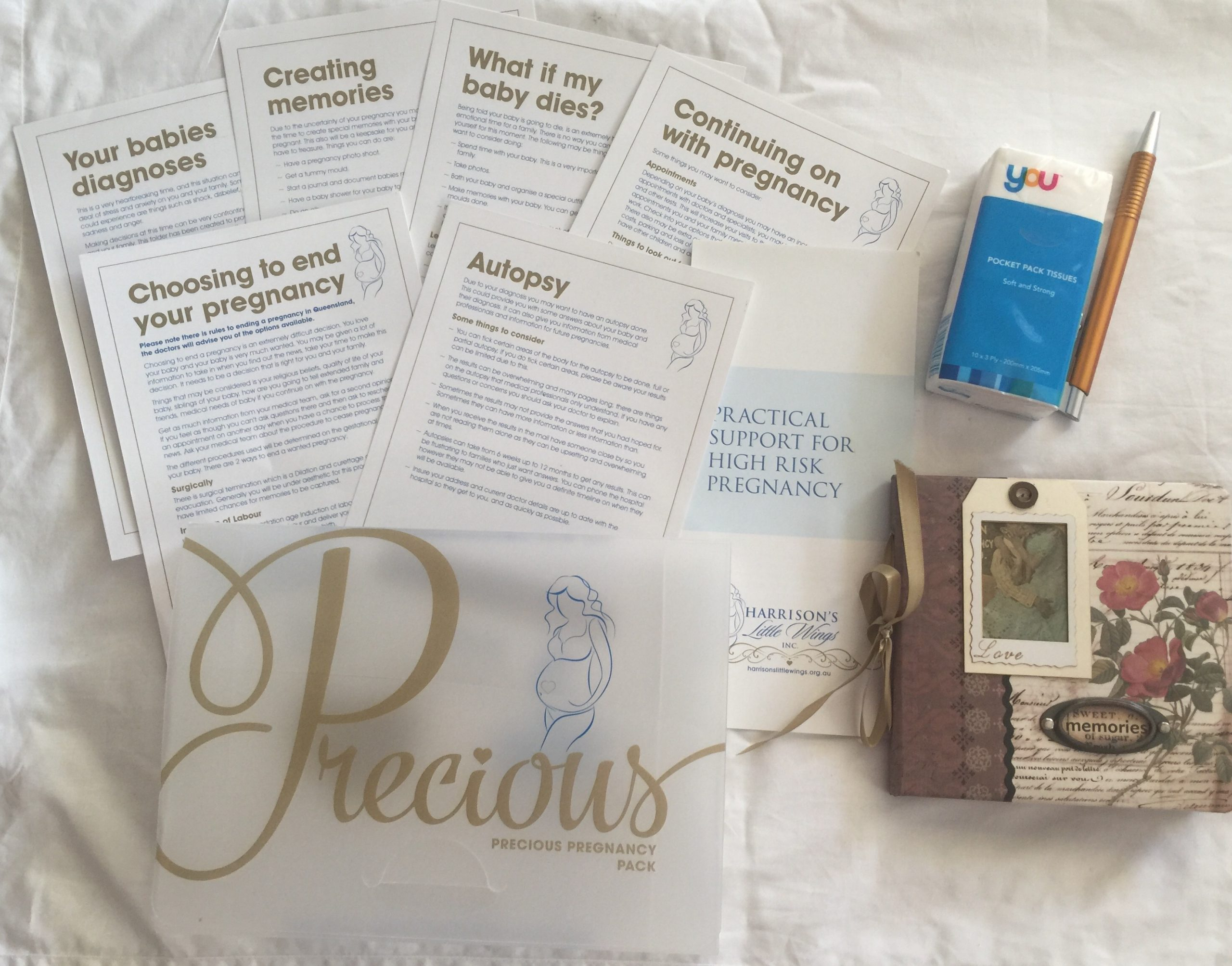 Precious Pregnancy Pack by Harrisons LIttle Wings for High Risk Pregnancy Support
