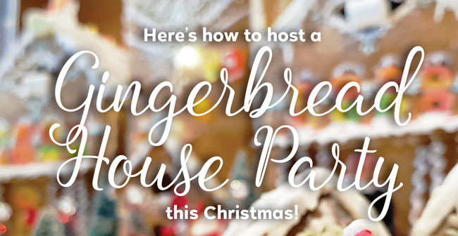 Gingerbread House Party for Christmas with your friends and family