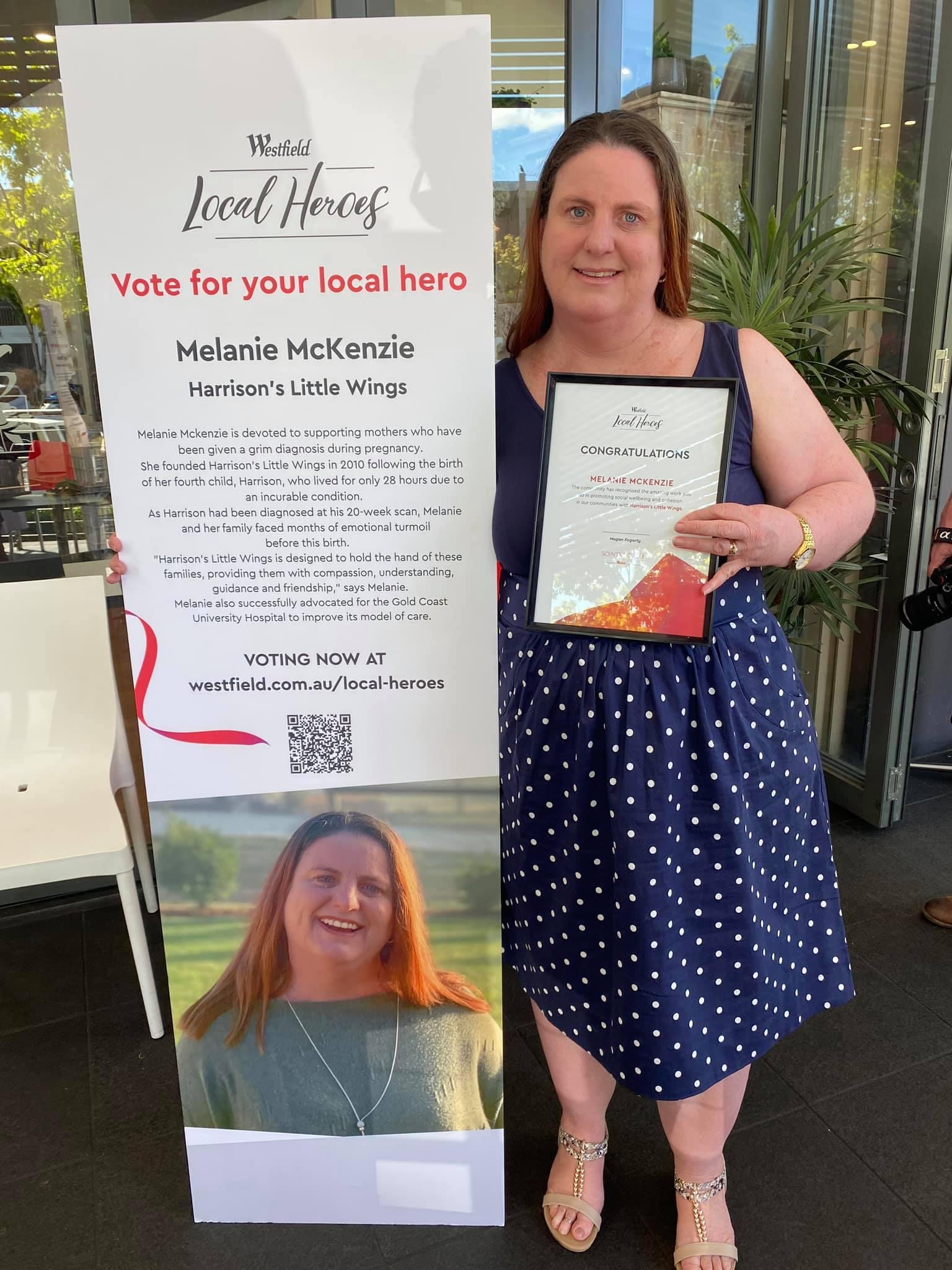 Congratulations to our Founder and Director Melanie McKenzie in being voted, by the community to be Helensvale Westfields Local Hero.