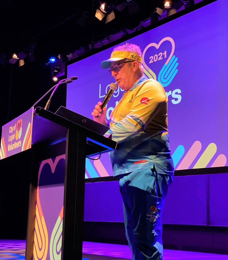 Terry Hansen MC at Logan Community Awards